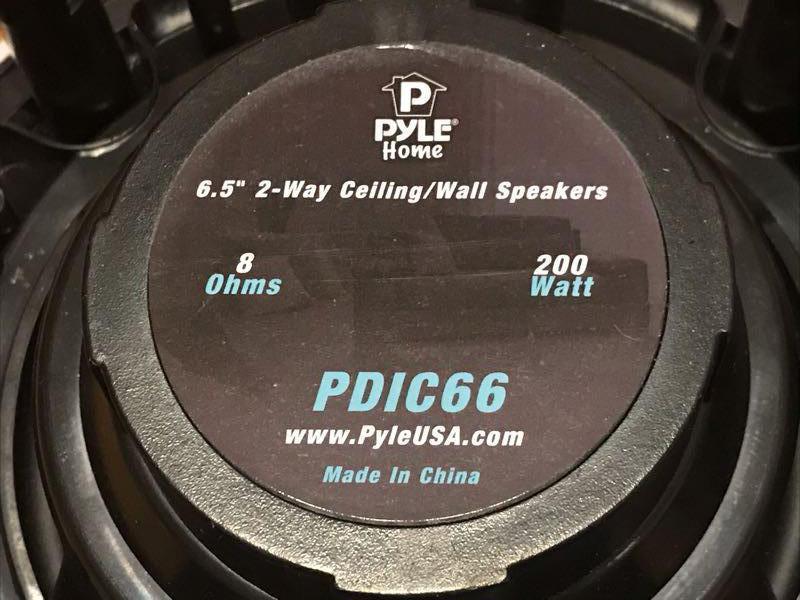 Встраиваемые динамики Pyle pdic66 - Фото 5