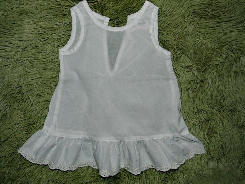 Платье туника с кружевом zara baby 1-3м.