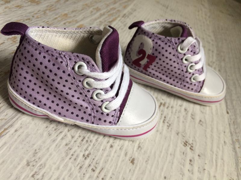 Пинетки кеды первая обувь