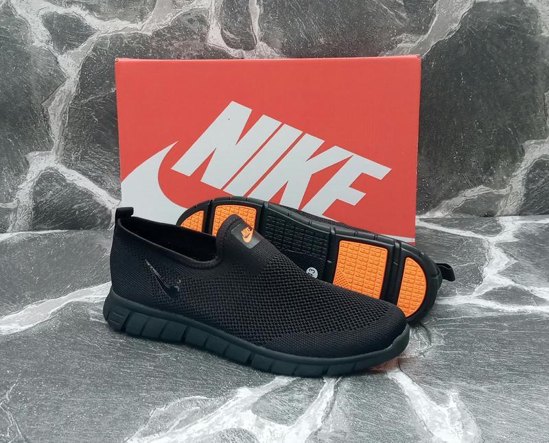 Мужские кроссовки nike free run 3.0 сетка,летние,черные,беговые - Фото 3