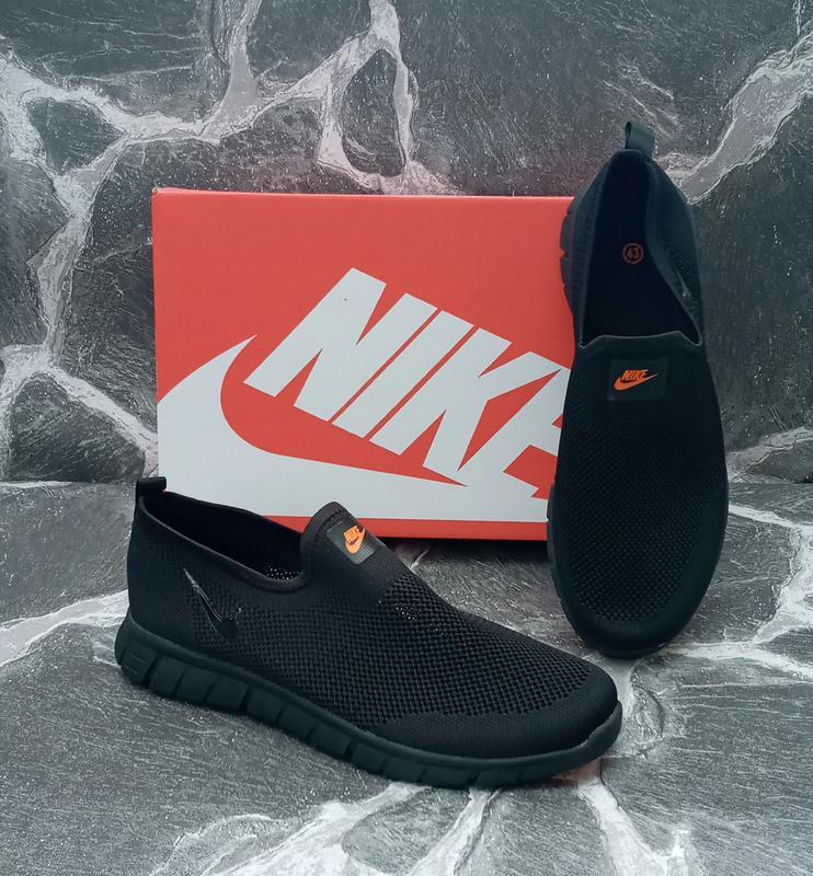 Мужские кроссовки nike free run 3.0 сетка,летние,черные,беговые - Фото 4