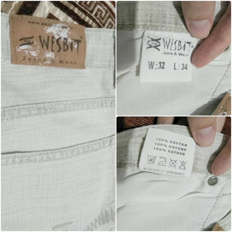 Брюки штаны италия мужские легкие летние 46 48 m качество cott... - Фото 2