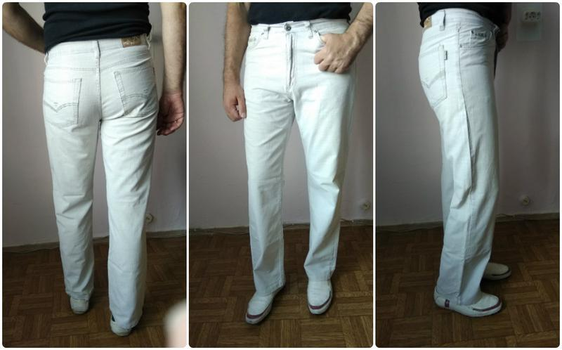 Брюки штаны италия мужские легкие летние 46 48 m качество cott... - Фото 3