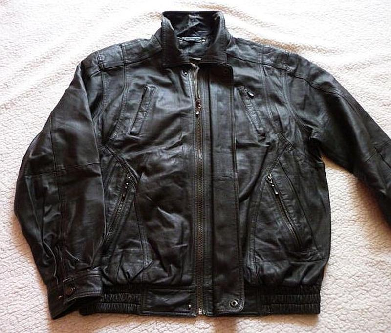 Большая кожаная мужская куртка echtes leder. лот 618