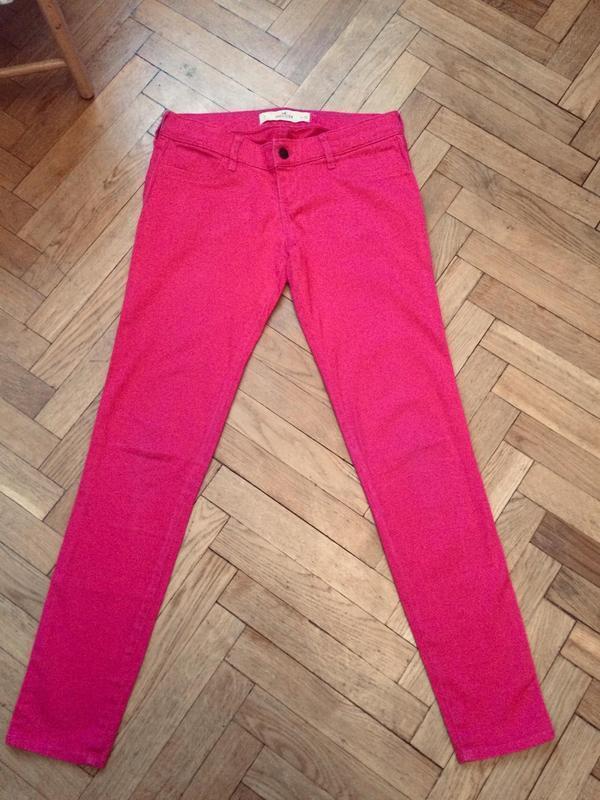 Стильные, яркие джинсы скинни,от бренда hollister - Фото 2