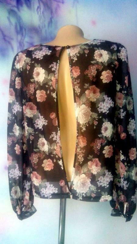 Блузка с открытой спинкой-бренд--new look--12\14р   №134 - Фото 2