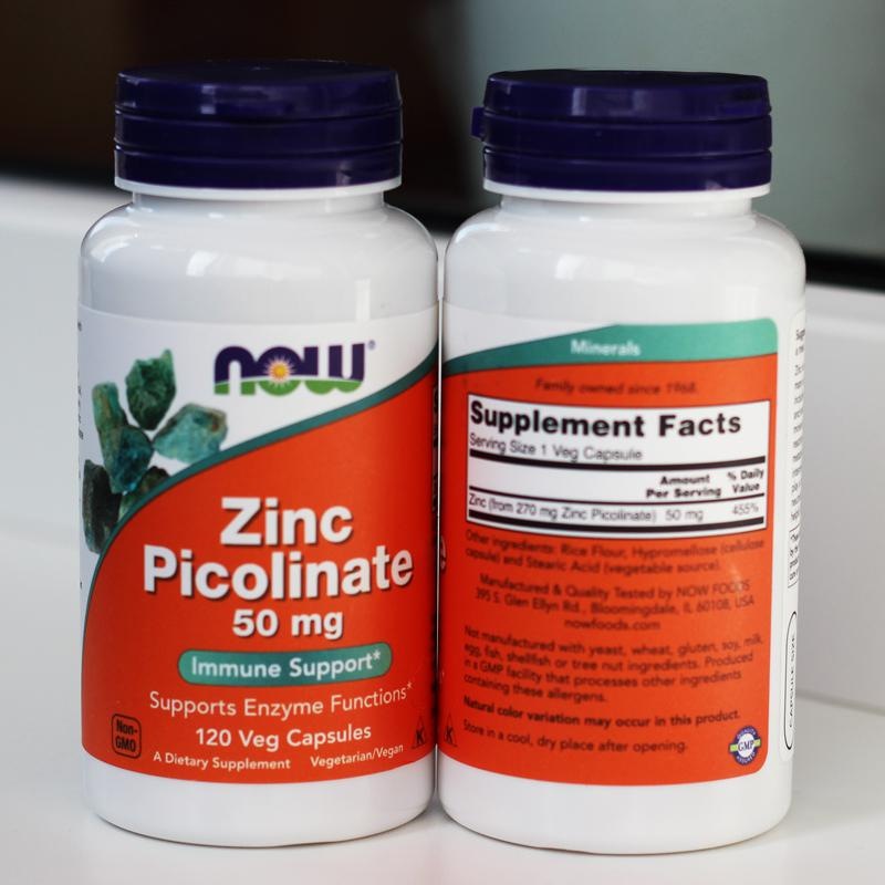 Цинк пиколинат Zinc Picolinate, Now Foods, 50 мг 120 капсул