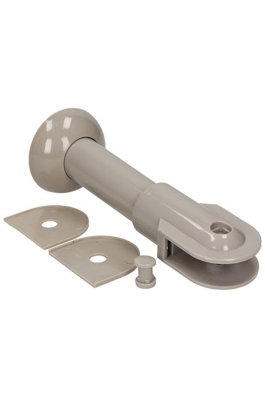 Фурнитура для туалетных перегородок - комплект 18/100 серый - Фото 3