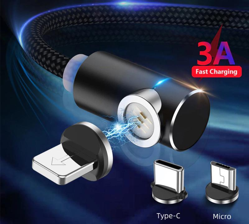 Магнитный кабель для зарядки USLION iPhone, быстрая зарядка