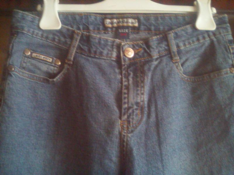 Лёгкие плотные джинсы пот-40см - Фото 2