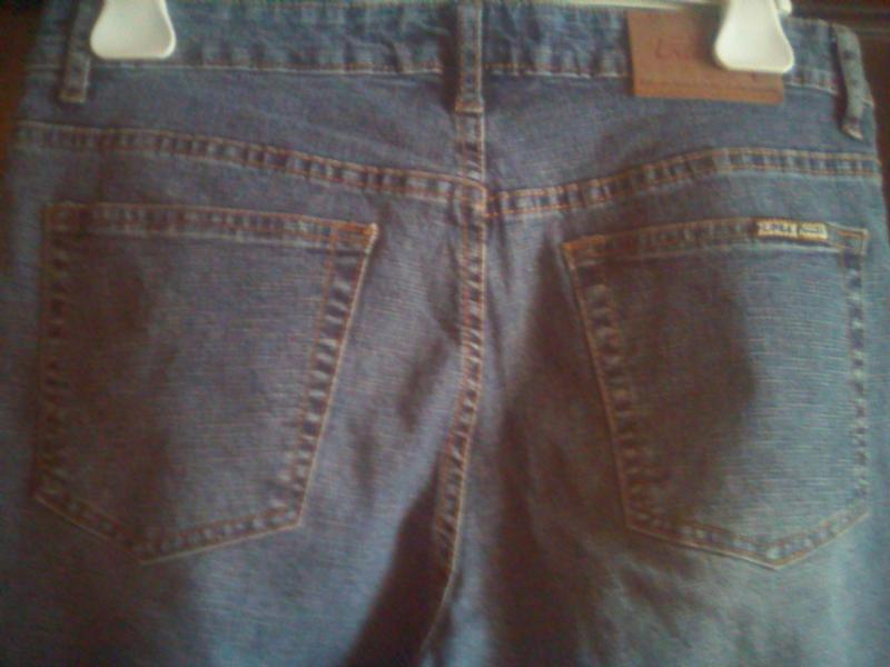Лёгкие плотные джинсы пот-40см - Фото 4