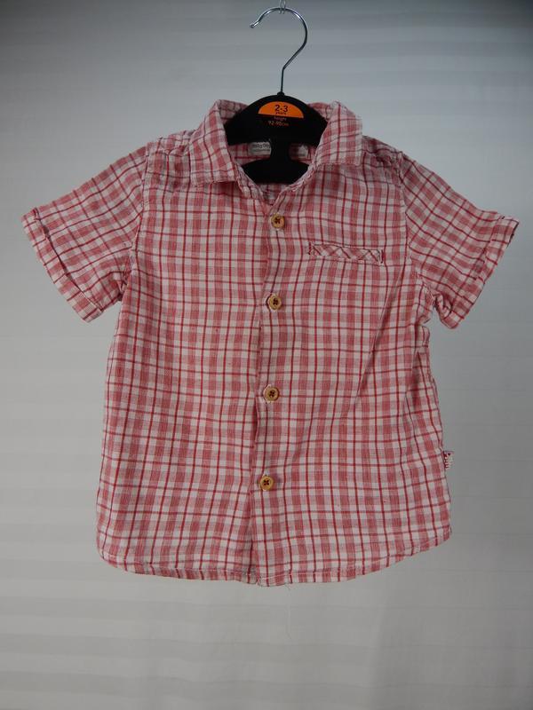 Рубашка в клеточку для крохи 12-18 месяцев