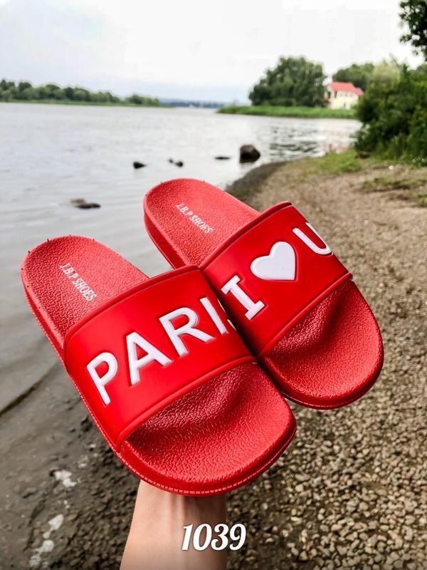 Шлепанцы, шлепки, сланцы париж  = i love u paris =, пляжные
