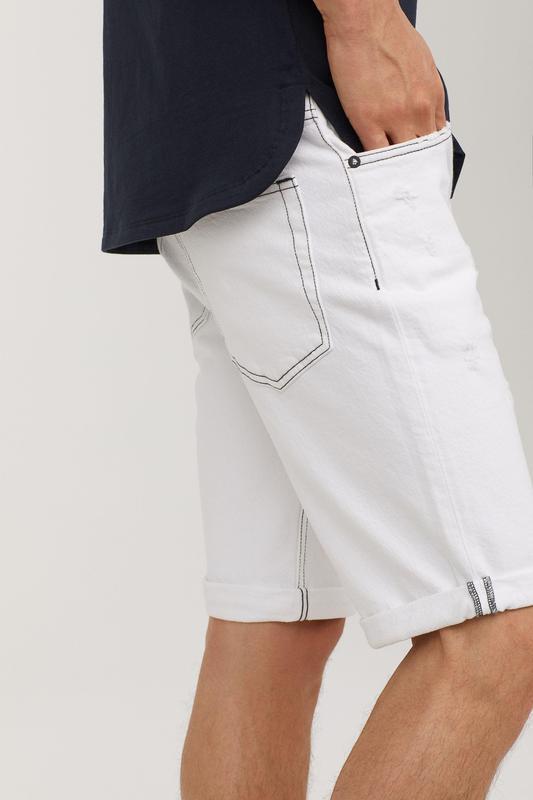 Мужские белые шорты 28 размер - Фото 3
