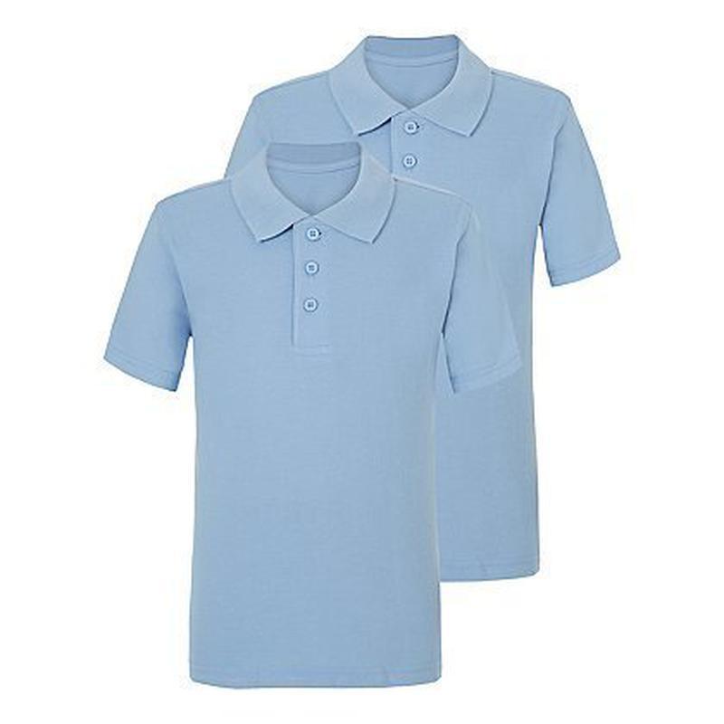 Футболка - поло школьная голубая от 6 до 13 лет Georgeт180901
