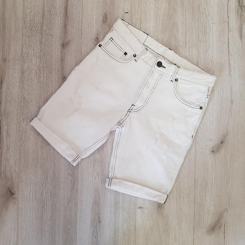 Мужские белые шорты 28 размер - Фото 4