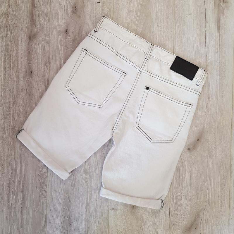 Мужские белые шорты 28 размер - Фото 5