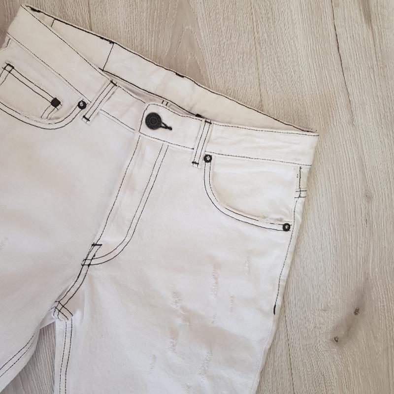 Мужские белые шорты 28 размер - Фото 6