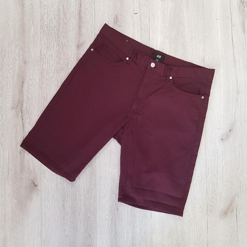 Бордовые мужские шорты - Фото 2