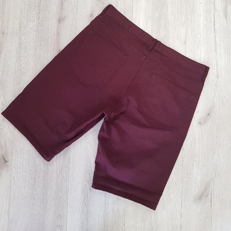 Бордовые мужские шорты - Фото 3