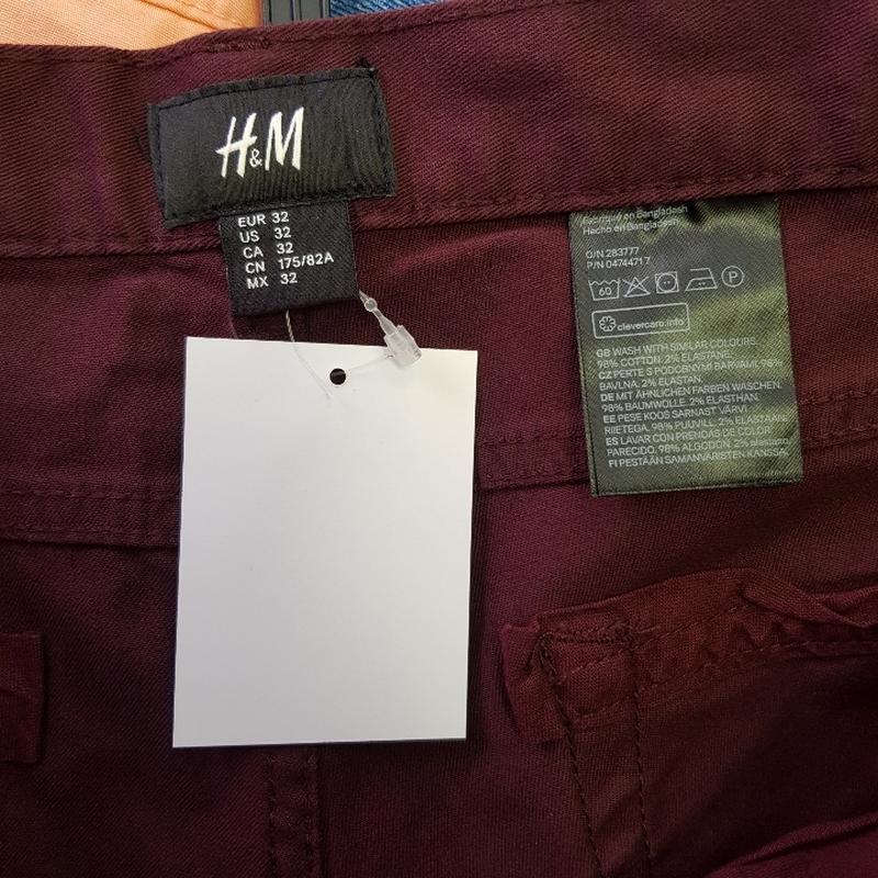 Бордовые мужские шорты - Фото 5