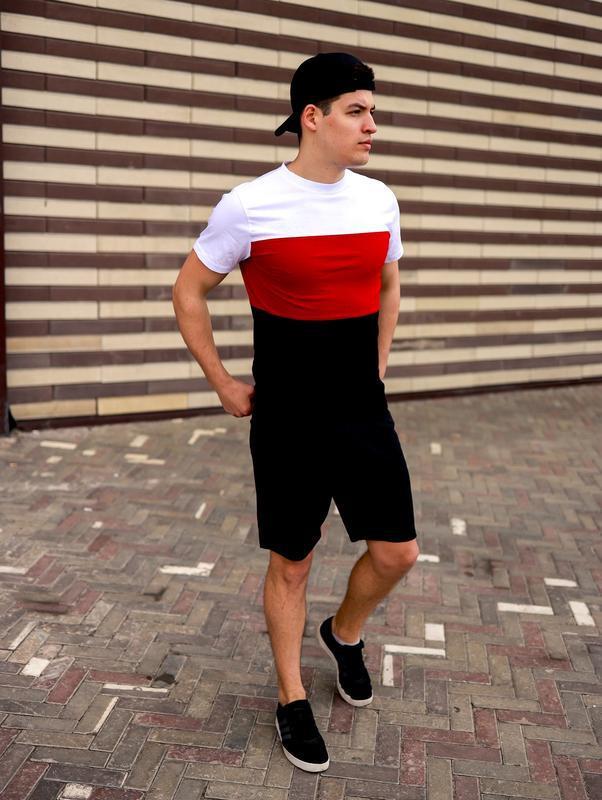 Крутой мужской спортивный костюм комплект