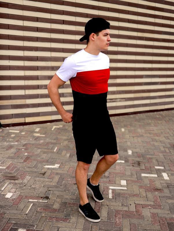 Крутой мужской спортивный костюм комплект - Фото 4