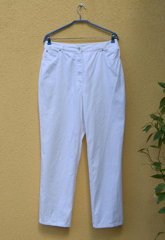Tрендовые белые джинсы mom 👖 c высокой посадкой от бренда shap... - Фото 2