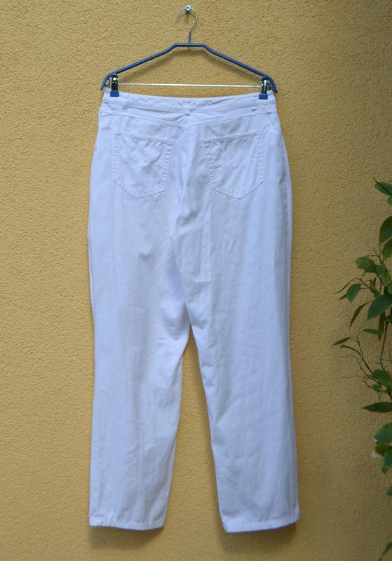 Tрендовые белые джинсы mom 👖 c высокой посадкой от бренда shap... - Фото 3