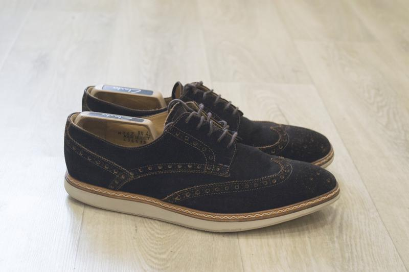 Мужские туфли броги замша оригинал