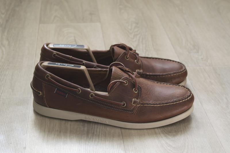 Мужские туфли топ сайдеры кожа оригинал sebago