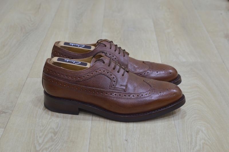 Мужские туфли броги кожа оригинал англия коричневые