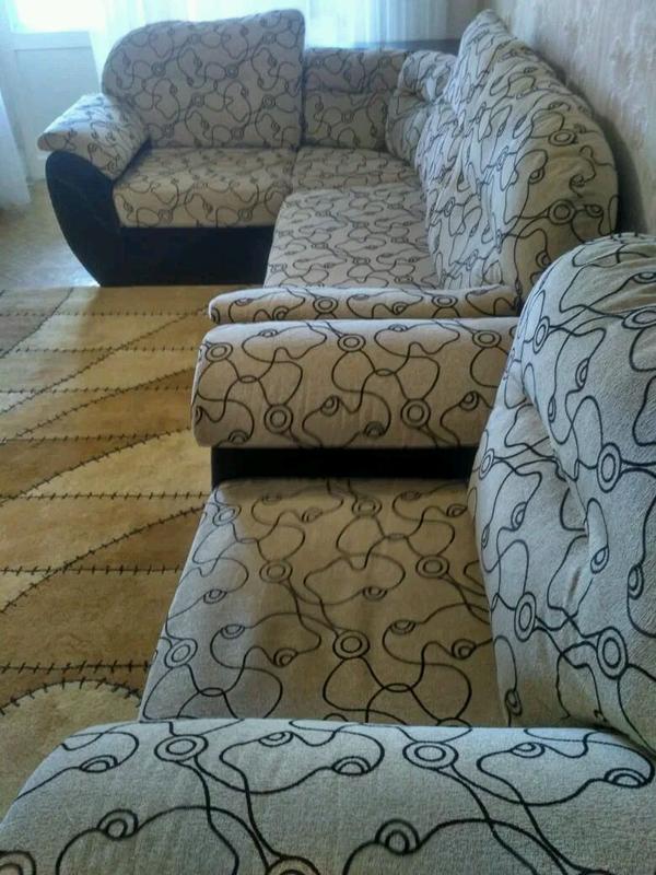 Диван и кресло б/у - Фото 3