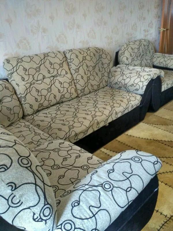 Диван и кресло б/у - Фото 7