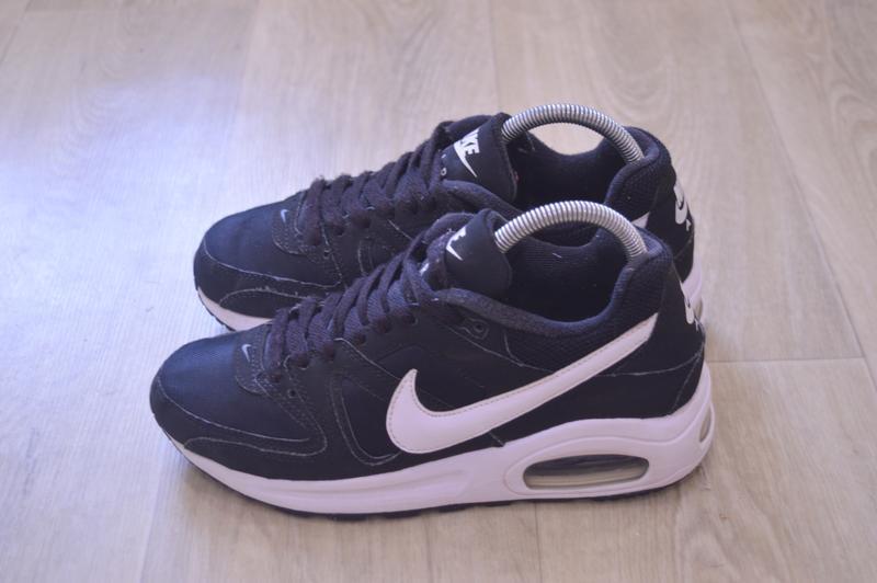 Nike air max черные женские кроссовки кожа оригинал осень весн... - Фото 3