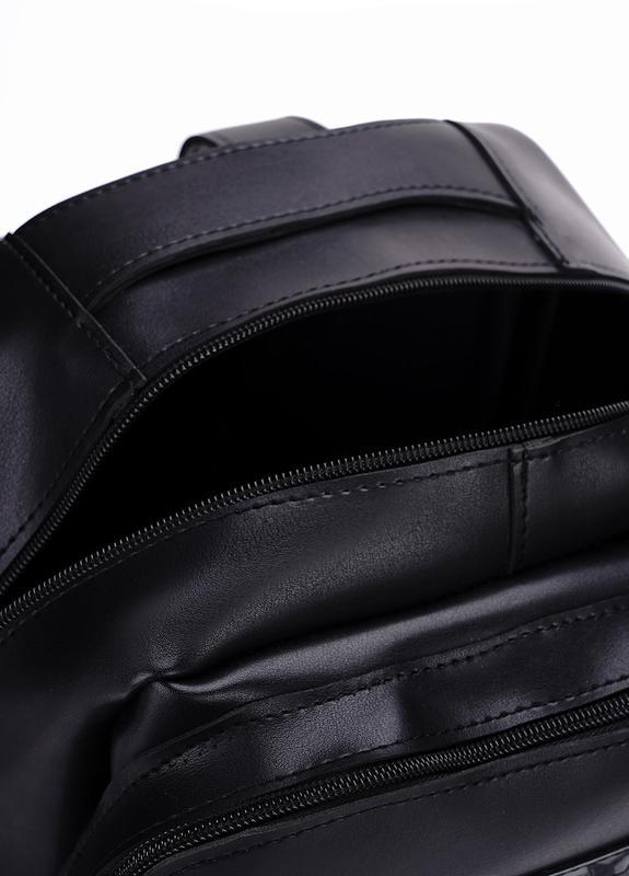 Рюкзак для міста чоловічий / городской черный мужской экокожа - Фото 4