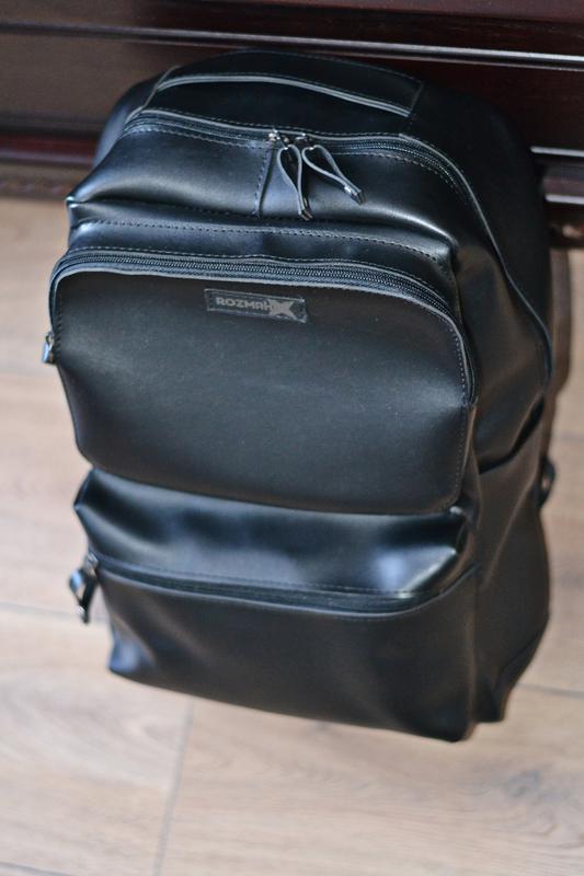 Рюкзак для міста чоловічий / городской черный мужской экокожа - Фото 2