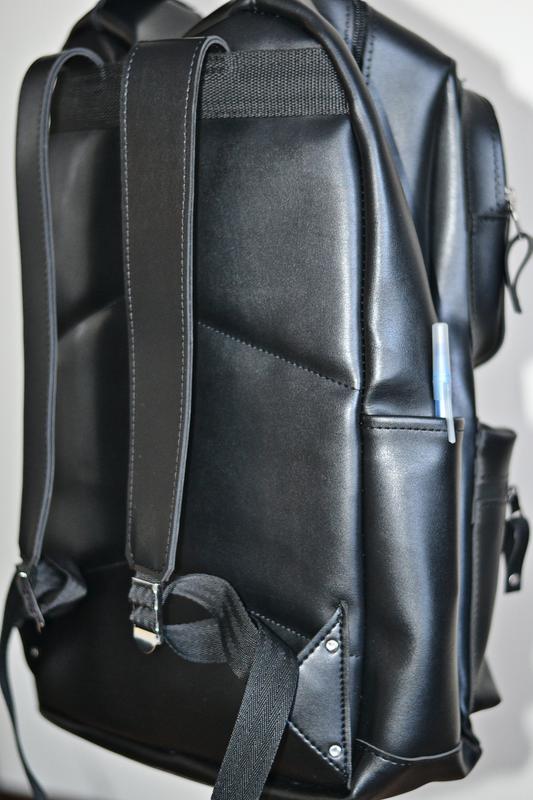 Рюкзак для міста чоловічий / городской черный мужской экокожа - Фото 10