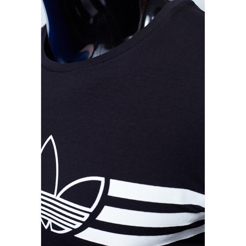 Костюм футболка с шортами мужской adidas черный в стиле бренд - Фото 2