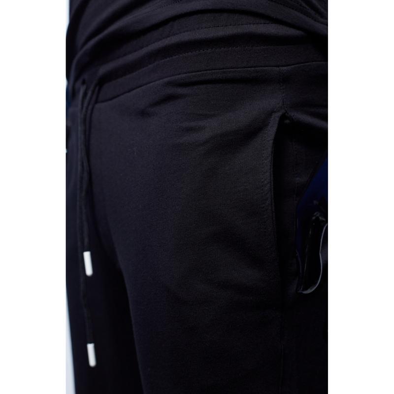 Костюм футболка с шортами мужской adidas черный в стиле бренд - Фото 3