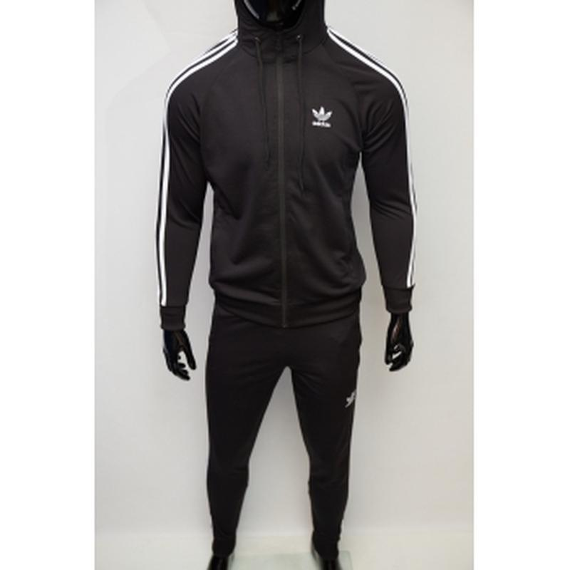 Костюм спортивный мужской adidas  черный в стиле бренда