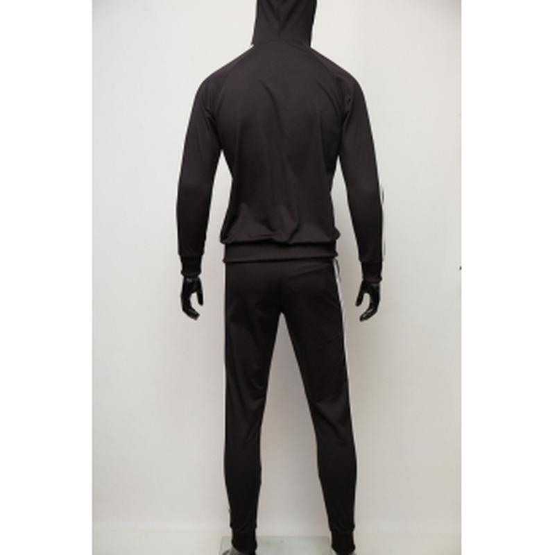 Костюм спортивный мужской adidas  черный в стиле бренда - Фото 2
