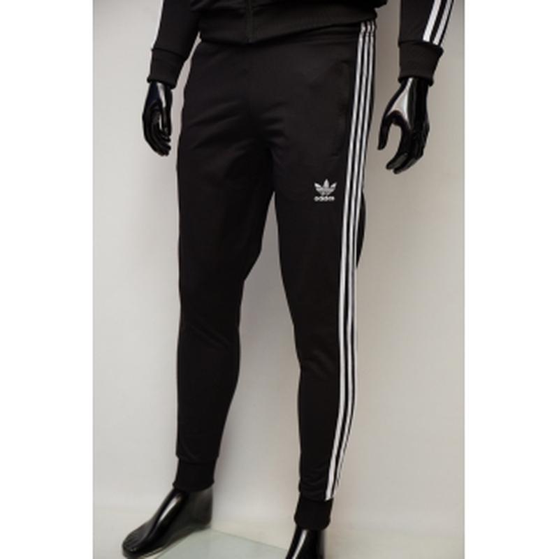 Костюм спортивный мужской adidas  черный в стиле бренда - Фото 4
