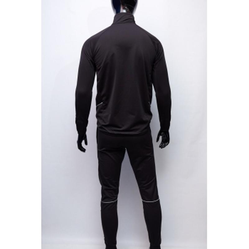Костюм спортивный мужской nike  черный утепленный в стиле бренда - Фото 2