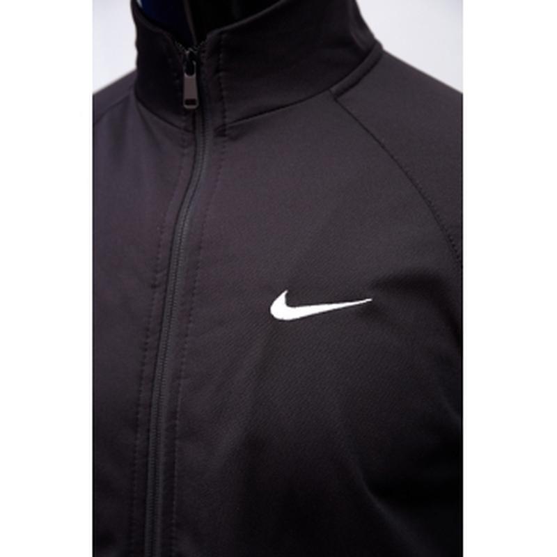 Костюм спортивный мужской nike  черный утепленный в стиле бренда - Фото 4