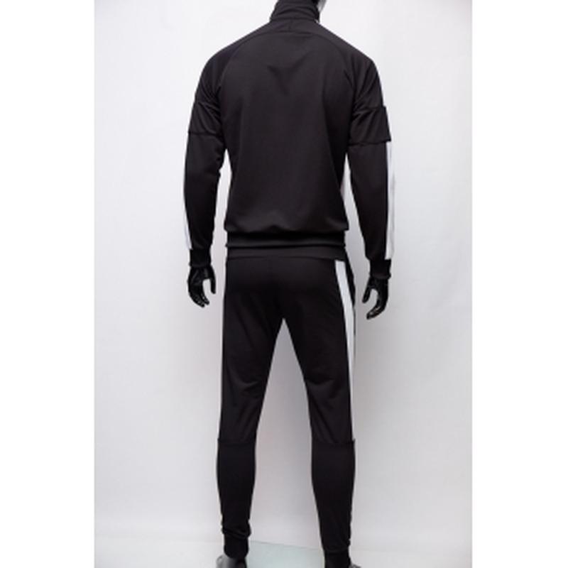 Костюм спортивный мужской pm  черный c белым в стиле бренда - Фото 2