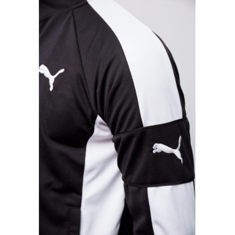 Костюм спортивный мужской pm  черный c белым в стиле бренда - Фото 3