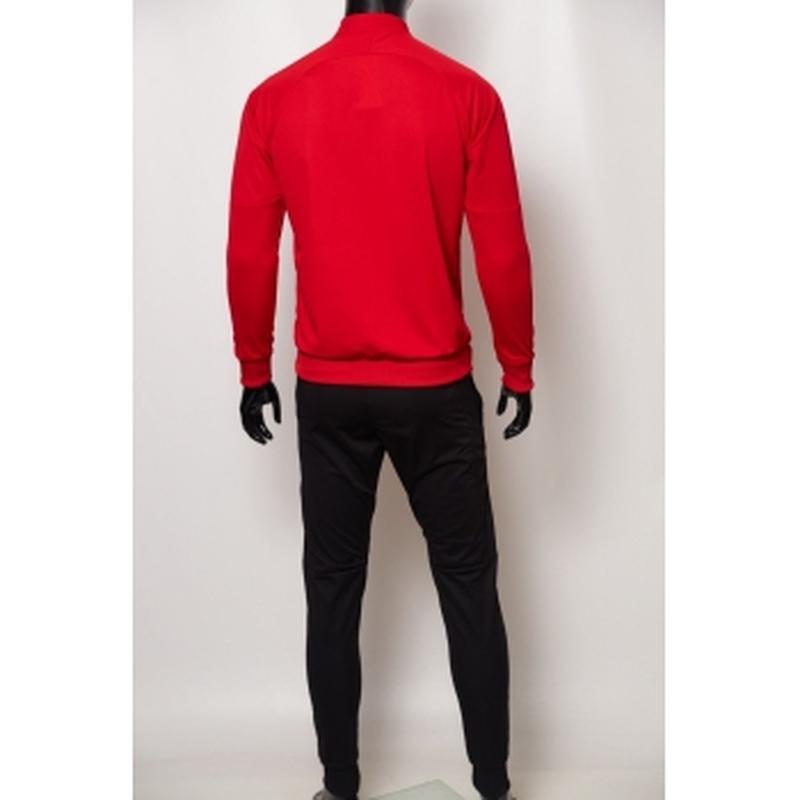 Костюм спортивный мужской pm  красный с черным в стиле бренда - Фото 2