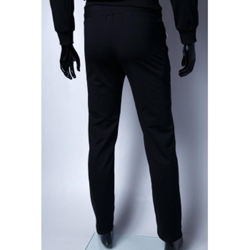 Спортивные штаны мужские  батал черный в стиле бренда - Фото 3