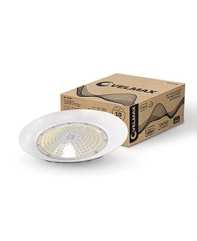 LED СВ-К VELMAX V-HB, 100W, промышленный, SMD, 6200K, 12000LM, уг
